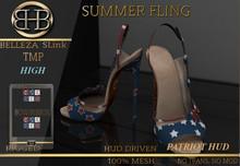 !!BHB!! 4th of July special SUMMER FLING HEELS WITH STAR PATRIOT HUD (BELLEZA, SLINK, TMP)