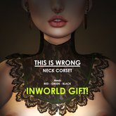 THIS IS WRONG Mesh Neck Corset - gift (3 colors)