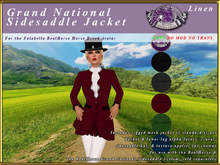 *E* Grand National Sidesaddle Jacket Set [BOXED] Linen