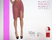 [EN] Pencil Skirt With Slit Coral ::Mesh::