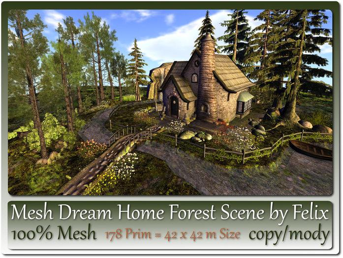 Mesh Dream Home Forest Scene 178 Prim=42x42m Size copy-mody