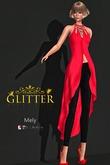 *GLITTER* MELY FITMESH OUTFIT-BELLEZA-MAITREYA-SLINK RED