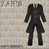 zan's victorian male suit (Black)