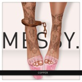 Messy. Handcuff Anklets Copper