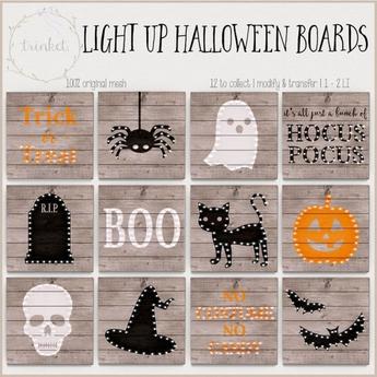 .trinket. light up halloween board - skull