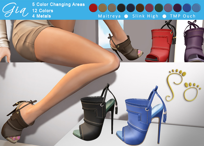 Slipper - Gia Heels Fat Pack - Wear Me