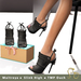 Slipper - Gia Heels Black