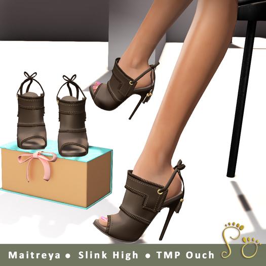 Slipper - Gia Heels Brown
