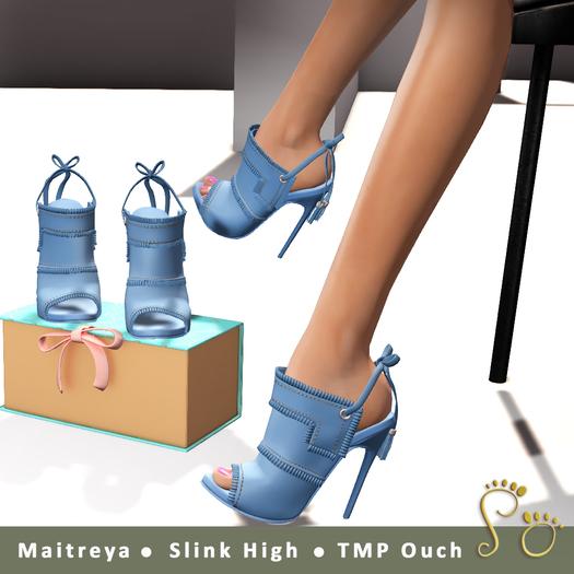 Slipper - Gia Heels Light Blue