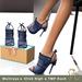Slipper - Gia Heels Navy Blue