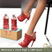 Slipper - Gia Heels Red