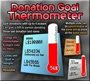 Donation Goal Thermometer with Percentage Splitting & Sim-Wide Link