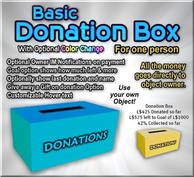 Copyable Donation Box with optional Color Change feature