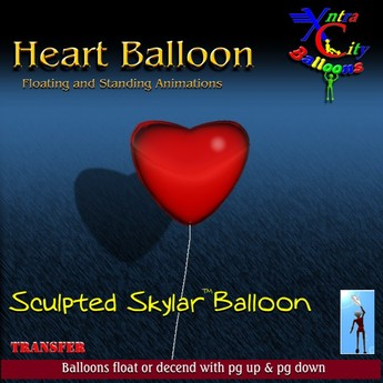 Heart Balloon - Red - Transfer - Xntra City Balloons