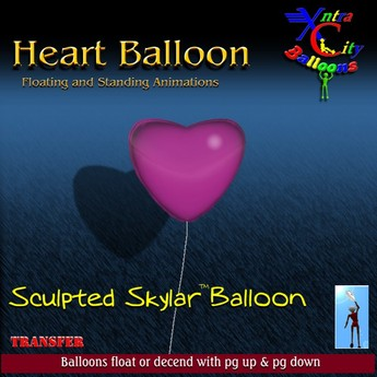 Heart Balloon - Pink - Transfer - Xntra City Balloons