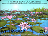 Wet Land Pond Building Kit - Lily pads - water lilies - Reeds - Stepping Stones