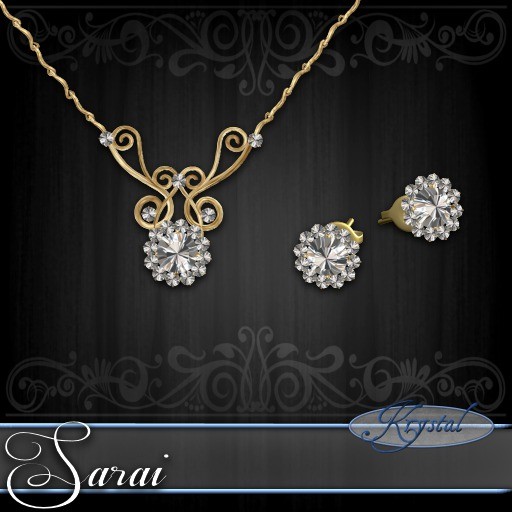 Sarai - Jewelry Set - Gold - Diamond