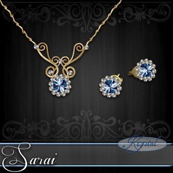 Sarai - Jewelry Set - Gold - Ice
