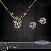 Sarai - Jewelry Set - Gold - Rose