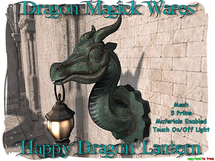 Dragon Magick Wares Happy Dragon Lantern Mesh