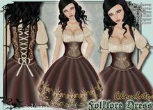 [Wishbox] Folklore Dirndl Dress (Chocolate) Oktoberfest Octoberfest Medieval Costume Milk Maid