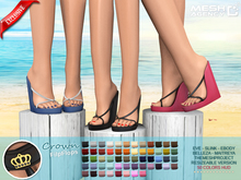 "::MA:: WEDGE FlipFlops ""Crown""- EXCLUSIVE 50 COLORS"
