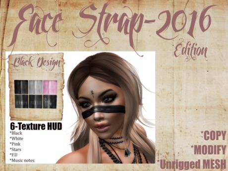 UNISEX Face Strap 2016 edition //  BLACK DESIGN::..