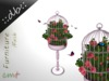 ::db:: Romantic Bird cage with pink Roses and Butterflies