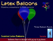 Floating Latex Balloon Bunch w/ animations - Xntra City Balloons