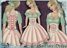 [Wishbox] Folklore - Bavarian Dirndl Beer Girl or Fairy Dress Costume tagMedieval