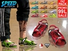 CA PROMO SAVE 75% AESTHETIC SLINK SPEED SANDALS FAT PACK