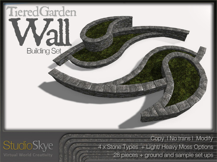 Skye Tiered Garden Wall Building Set - 100% Mesh
