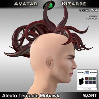 AB Hair - Alecto Tentacle with Color HUD