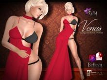 SiNeL:Venus Red Elegant Dress