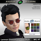 AB Lennon Glasses with Color HUD
