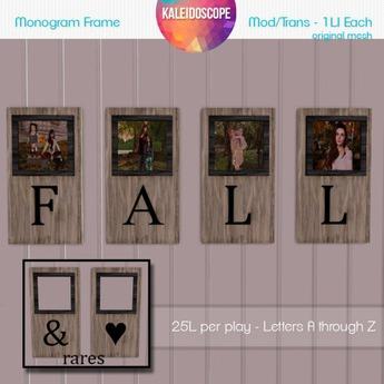 Kaleidoscope - Letter B Monogram Portrait Frame