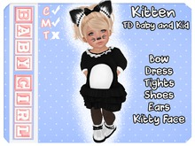 (Baby Girl) Kitten Outfit for Toddleedoo Baby and Kid