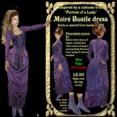 Purple Moire dress c 1876