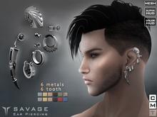 **RE** Savage Ears Piercings * MESH * (**ReVoX Collection**)