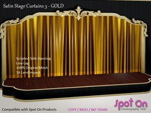 *SO* Satin Stage Curtain 3 - GOLD