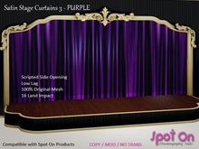 *SO* Satin Stage Curtain 3 - PURPLE