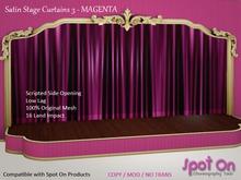 *SO* Satin Stage Curtain 3 - MAGENTA