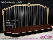 *SO* Satin Stage Curtain 3 - BLACK