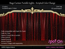 *SO* Stage Curtain Twinkle Lights