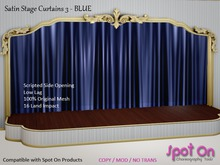 *SO* Satin Stage Curtain 3 - BLUE