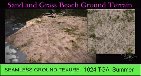 Sand and Grass Ground Texture SEAMLESS 1024 TGA