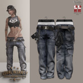 Legal Insanity - Cookie baggy blue jeans bandana/chains
