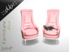 ::db:: Rose Patent leather Chairs with cute Cat