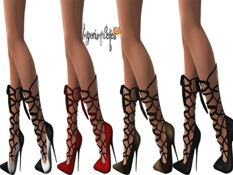 Imporium Bekes High Heel Tied Up Shoes For Slink High