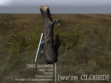 [we're CLOSED] tree shower